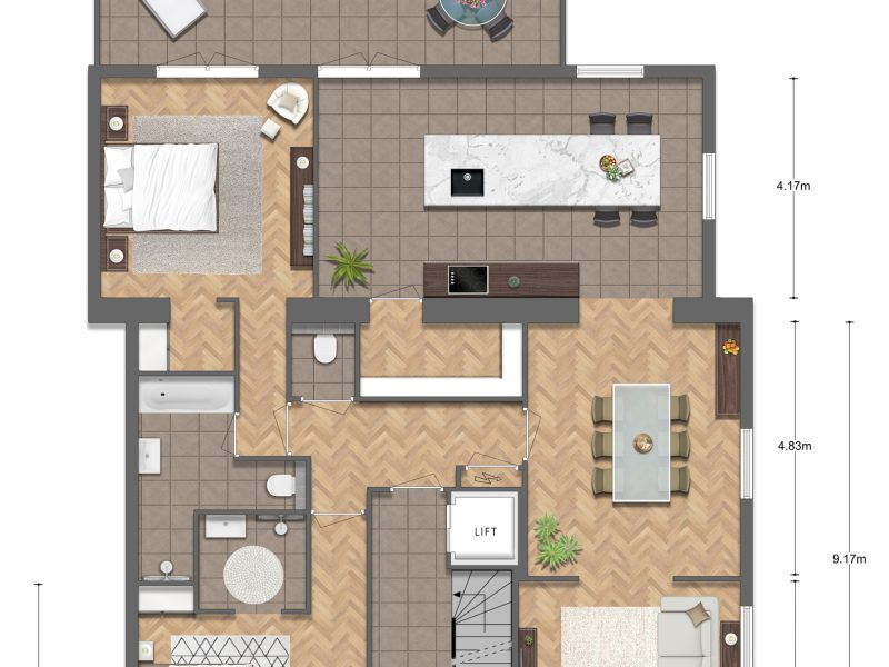 4 Appartement FINAL v2 1 800x600 - Impressieplattegrond