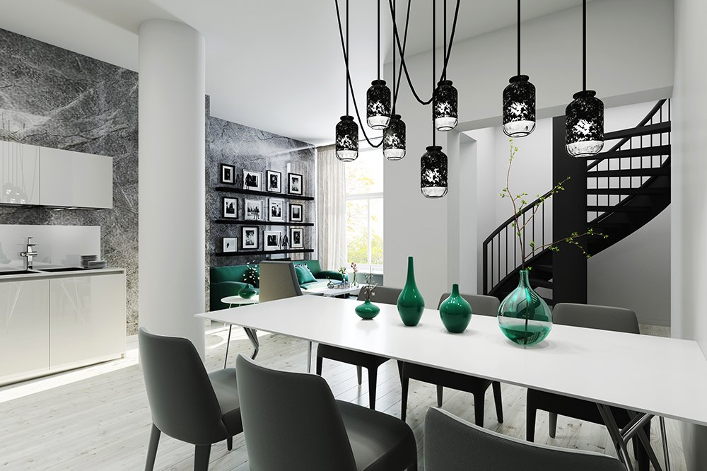 AI 2 woonkamer - Artist impressions interieur